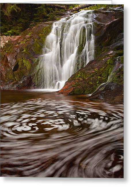 Rapids Greeting Cards - Waterfall Canyon Greeting Card by Evgeni Dinev