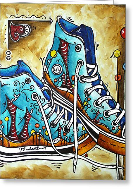 Hightop Greeting Cards - Whimsical Shoes by MADART Greeting Card by Megan Duncanson