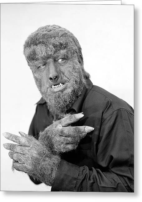 1945 Greeting Cards - Wolfman, 1945 Greeting Card by Granger