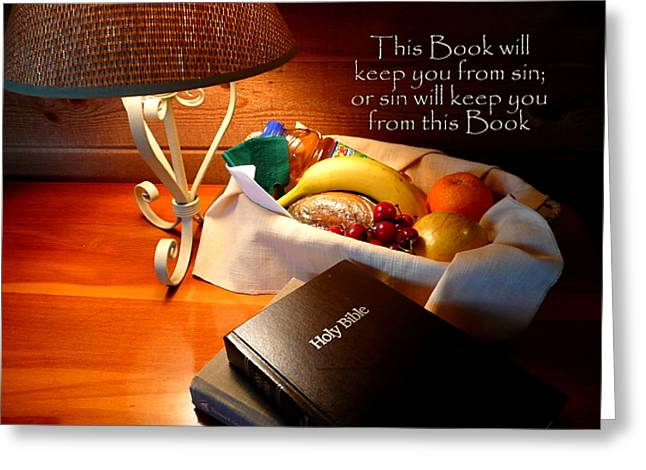 Holy Napkin Greeting Cards - Word of God Greeting Card by Cindy Wright