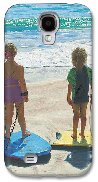 Girl Galaxy S4 Cases - Girls on Boogie Boards Galaxy S4 Case by Steve Simon