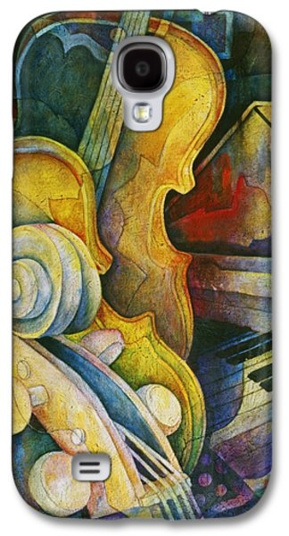 Jazz Galaxy S4 Cases - Jazzy Cello Galaxy S4 Case by Susanne Clark