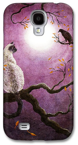 Crows Paintings Galaxy S4 Cases - Dreaming of a Raven Galaxy S4 Case by Laura Iverson
