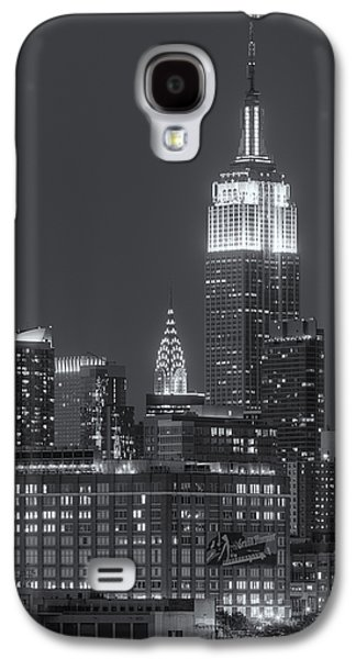 Best Sellers -  - Landmarks Photographs Galaxy S4 Cases - Empire State and Chrysler Buildings at Twilight II Galaxy S4 Case by Clarence Holmes