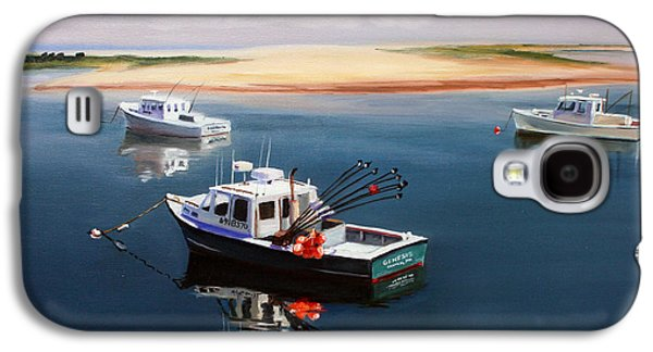 Cape Cod Paintings Galaxy S4 Cases - Fishing Boats-cape Cod Galaxy S4 Case by Paul Walsh
