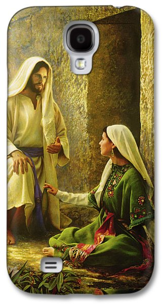 Dressed Galaxy S4 Cases - He is Risen Galaxy S4 Case by Greg Olsen