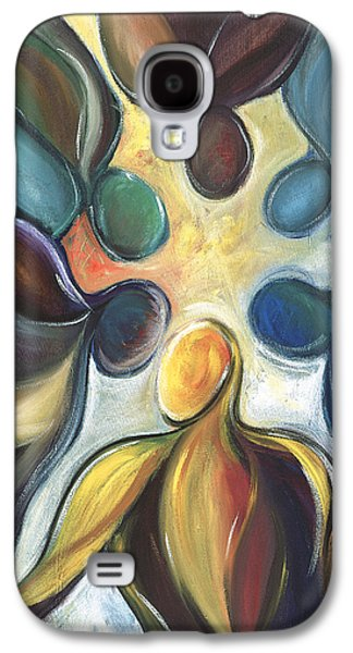 Unity Paintings Galaxy S4 Cases - In the Huddle Galaxy S4 Case by Kristye Addison Dudley