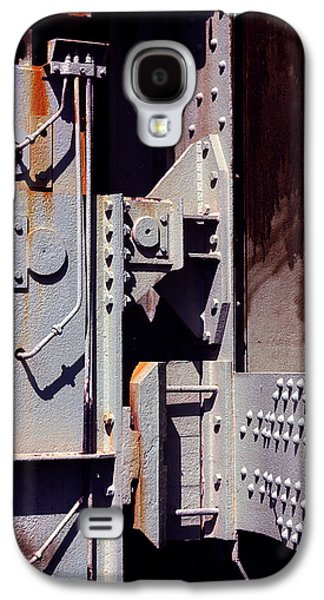 Machinery Galaxy S4 Cases - Industrial background Galaxy S4 Case by Carlos Caetano