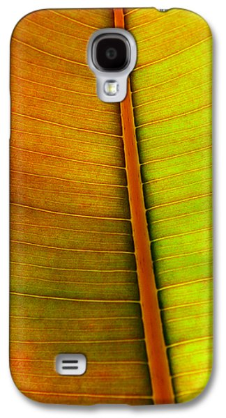 Nature Abstracts Galaxy S4 Cases - Leaf Pattern Galaxy S4 Case by Carlos Caetano