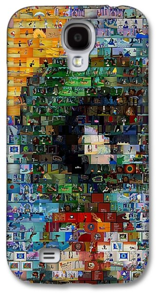 Looney Tunes Galaxy S4 Cases - Marvin The Martian Mosaic Galaxy S4 Case by Paul Van Scott