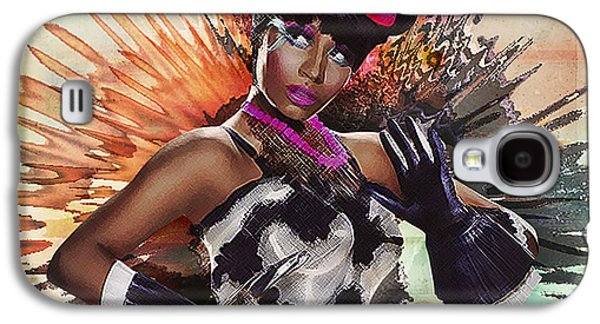 Lil Wayne Galaxy S4 Cases - Nicki Minaj Splatter by GBS Galaxy S4 Case by Anibal Diaz