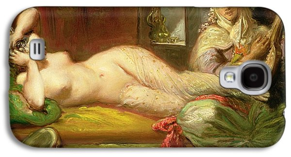 Lute Paintings Galaxy S4 Cases - Reclining Odalisque Galaxy S4 Case by Theodore Chasseriau