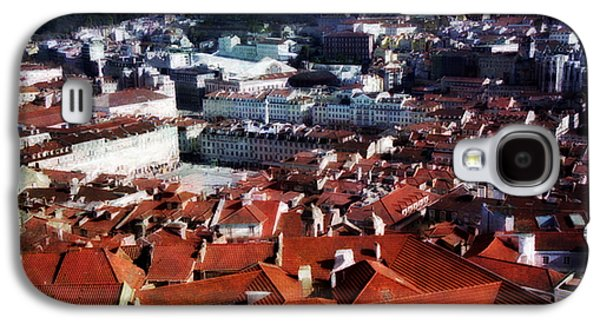 Portuguese Mixed Media Galaxy S4 Cases - Red roofs of Lisbon Galaxy S4 Case by Dariusz Gudowicz