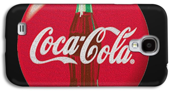 Coca-cola Signs Galaxy S4 Cases - Refreshing Galaxy S4 Case by Cheryl Young