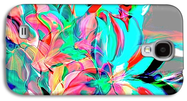 Abstract Digital Paintings Galaxy S4 Cases - Rejoice Galaxy S4 Case by Linda  Lane - Bloise