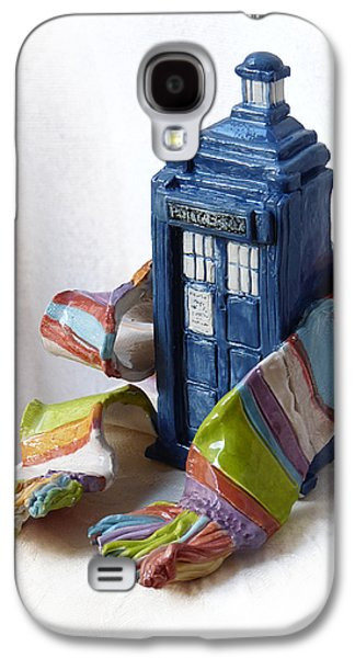 Science Fiction Mixed Media Galaxy S4 Cases - Tardis ll Galaxy S4 Case by Rhonda Chase