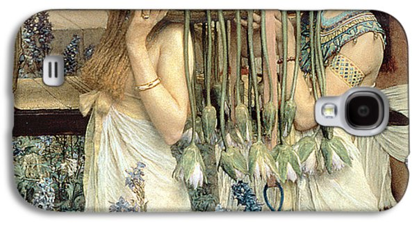 Manger Galaxy S4 Cases - The Finding of Moses by Pharaohs Daughter Galaxy S4 Case by Sir Lawrence Alma-Tadema