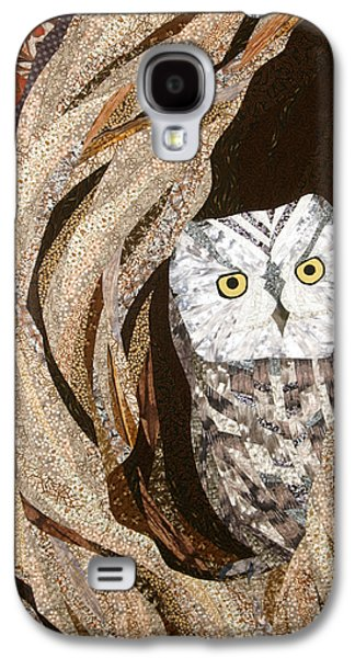 Landscapes Tapestries - Textiles Galaxy S4 Cases - The Owl at Home Galaxy S4 Case by Linda Beach