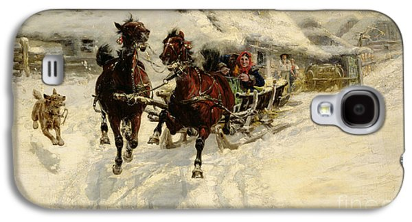 Christmas Cards - Galaxy S4 Cases - The Sleigh Ride Galaxy S4 Case by JFJ Vesin