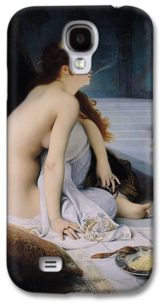 Interior Still Life Paintings Galaxy S4 Cases - The White Slave Galaxy S4 Case by Jean Jules Antoine Lecomte du Nouy