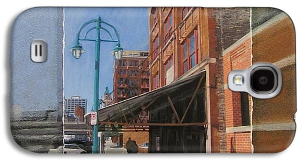Lamp Post Mixed Media Galaxy S4 Cases - Third Ward - Market Street Galaxy S4 Case by Anita Burgermeister