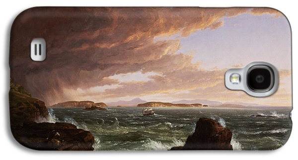 View Across Frenchman's Bay From Mt. Desert Island After A Squall Galaxy S4 Case by Thomas Cole