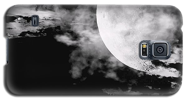 Moon Galaxy S5 Cases - Night Galaxy S5 Case by Lourry Legarde