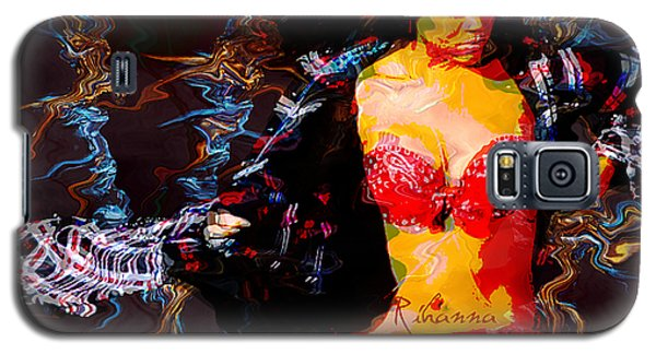 Rihanna Abstract By Gbs Galaxy S5 Case by Anibal Diaz