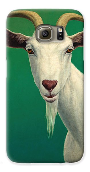 Portrait Of A Goat Galaxy S6 Case by James W Johnson