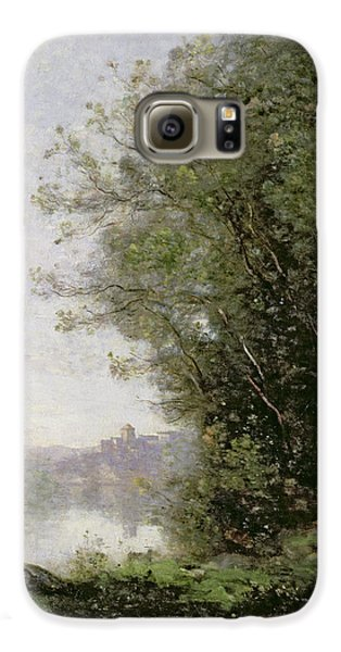 The Goatherd Beside The Water  Galaxy S6 Case by Jean Baptiste Camille Corot