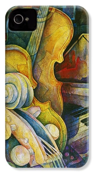 Jazzy Cello IPhone 4 / 4s Case by Susanne Clark