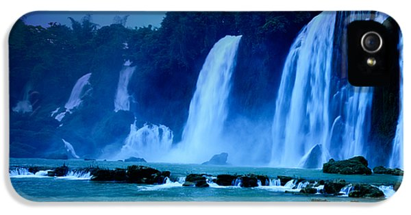 Night iPhone 5 Cases - Waterfall iPhone 5 Case by MotHaiBaPhoto Prints