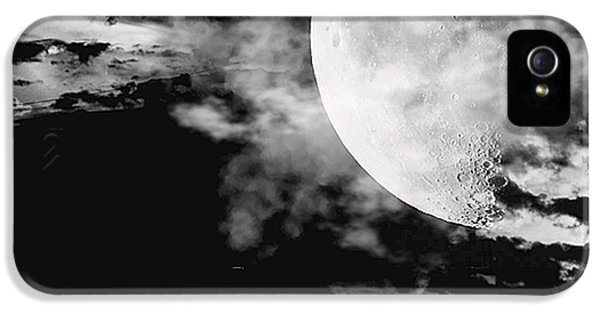 Moon iPhone 5 Cases - Night iPhone 5 Case by Lourry Legarde