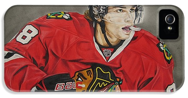 Stitch iPhone 5 Cases - Patrick Kane iPhone 5 Case by Brian Schuster