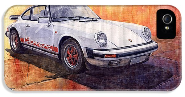 Vintage Car iPhone 5 Cases - Porsche 911 Carrera iPhone 5 Case by Yuriy  Shevchuk