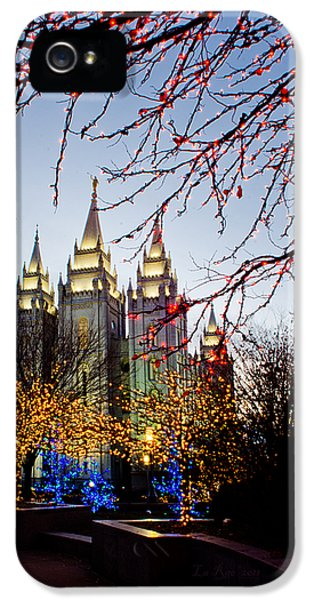 Slc iPhone 5 Cases - SLC Temple Lights lamp iPhone 5 Case by La Rae  Roberts