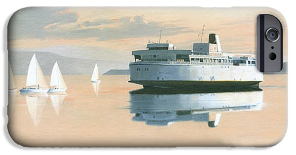 Sailboats iPhone Cases - Right of way  The Queen of Burnaby iPhone Case by Gary Giacomelli