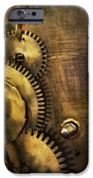 Mechanism iPhone Cases - Steampunk - Toothy  iPhone Case by Mike Savad