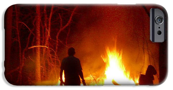 Fire Digital Art iPhone Cases - The Fire Starter iPhone Case by Mike McGlothlen