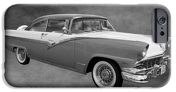 Betty Ford iPhone Cases - 1956 Ford Fairlane Victoria iPhone Case by Betty Northcutt
