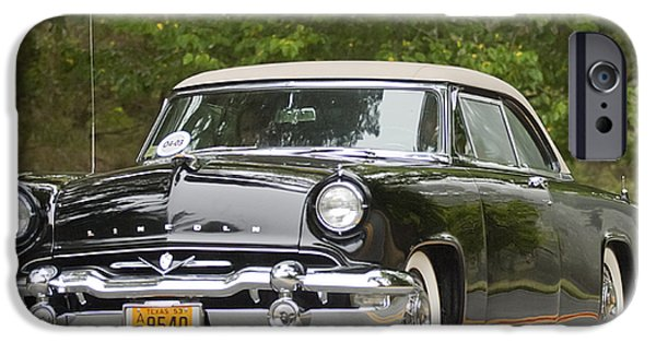 Lincoln iPhone Cases - 1953 Lincoln Capri Derham Coupe iPhone Case by Jill Reger
