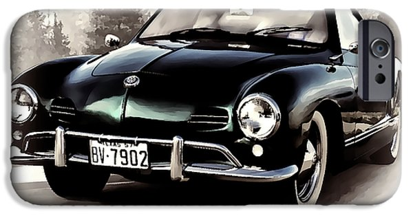 Volkswagen iPhone Cases - 57 Karmann Ghia iPhone Case by Douglas Pittman