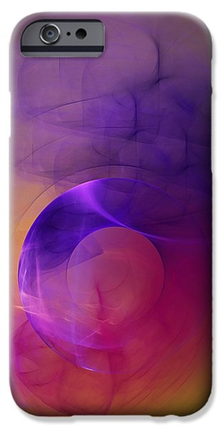 Flame Fractal iPhone Cases - Abstract 082111 iPhone Case by David Lane