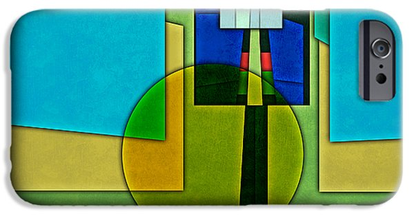 Arlington iPhone Cases - Abstract Shapes Color Two iPhone Case by Gary Grayson