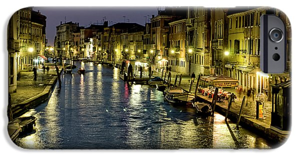 Venetian Canals iPhone Cases - An Evening in Venice iPhone Case by Michelle Sheppard