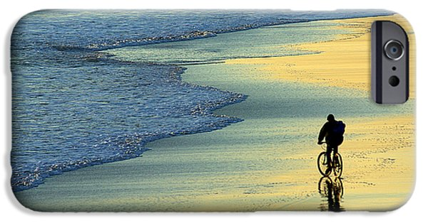 Young Photographs iPhone Cases - Beach Biker iPhone Case by Carlos Caetano