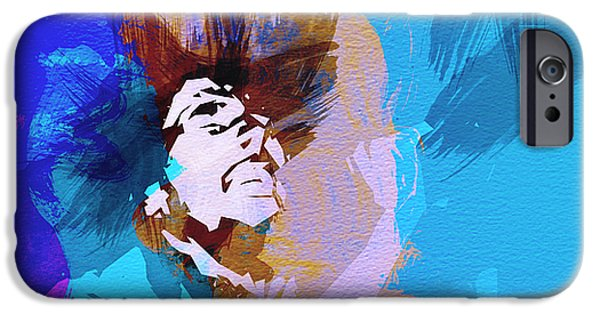 Bob Marley Portrait iPhone Cases - Bob Marley 3 iPhone Case by Naxart Studio