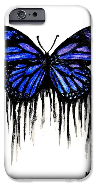 Michael Mixed Media iPhone Cases - Butterfly Tears iPhone Case by Mike Grubb