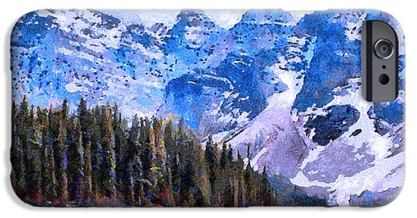 Caruso iPhone Cases - Canadian Rocky Mountain Scene iPhone Case by Anthony Caruso