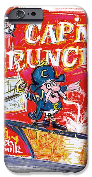 Quaker iPhone Cases - Capn Crunch iPhone Case by Russell Pierce